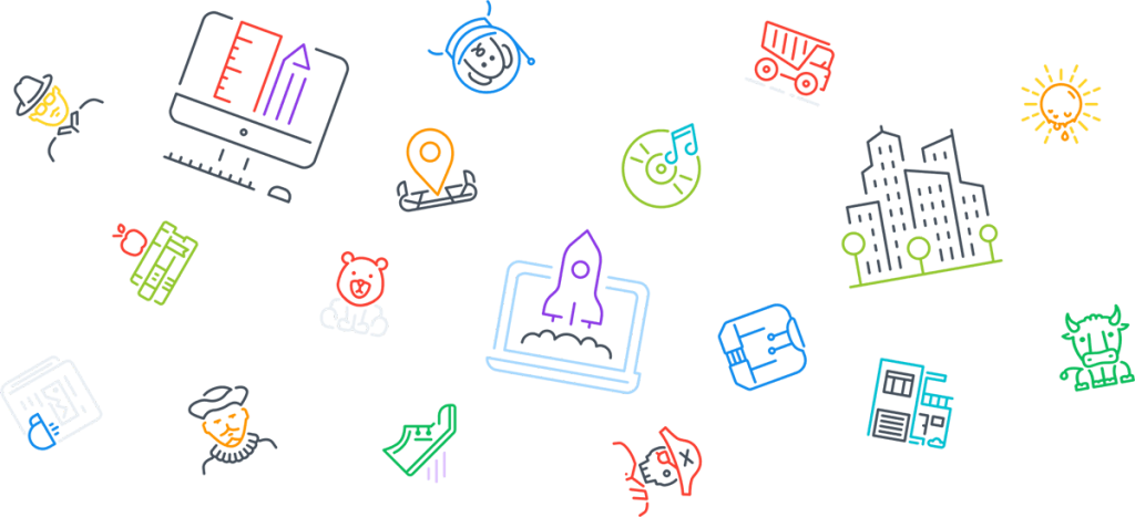 Free Email & SMS Services icons